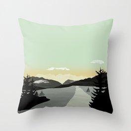 Misty Mountain II Throw Pillow