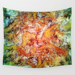 Floral escalator Wall Tapestry