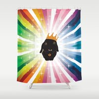biggie Shower Curtains featuring Biggie Bunny by Tiny Thompson