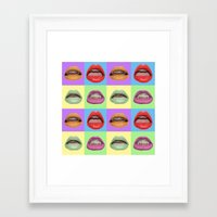 popart Framed Art Prints featuring Popart Braces by maayab