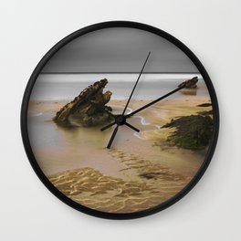 Fistral Beach, Newquay, Cornwall, England United Kingdom Wall Clock