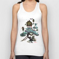christmas tree Tank Tops featuring Christmas Tree by Anna Shell