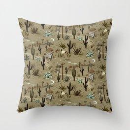 Snakebite Ranch Throw Pillow