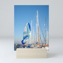 The end of the regatta Mini Art Print