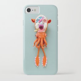 Anatomy of Small Ear Squid & Deep Water Clams iPhone Case
