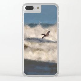Between The Waves Clear iPhone Case