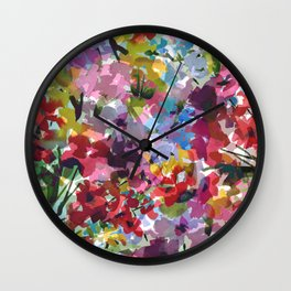 Hummingbird Haven Wall Clock