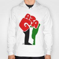 palestine Hoodies featuring GAZA by Osama hajjaj