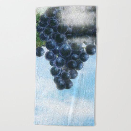 Grapes' Heaven Beach Towel