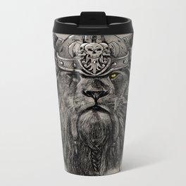 The eye of the Lion Vi/king Metal Travel Mug