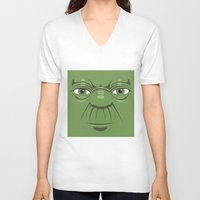 starwars V-neck T-shirts featuring Yoda - Starwars by Alex Patterson AKA frigopie76