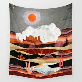 Coral Desert Lake Wall Tapestry
