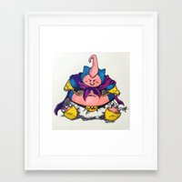 snorlax Framed Art Prints featuring majin snorlax eat and sleep by yungdee13