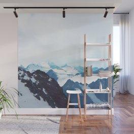 No limits - mountain print Wall Mural