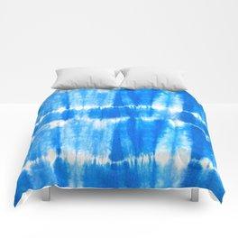 Tie Dye in Blue Comforters