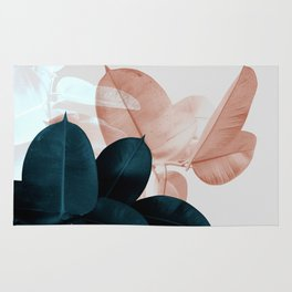 Plant Leaves, Tropical Leaves, Botanical Rug