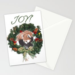 Red Panda Christmas Stationery Cards