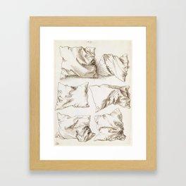 Six Studies of Pillows by Albrecht Durer, 1493 Framed Art Print