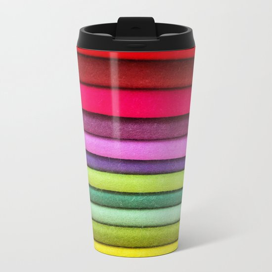 FABRIC FROLIC Metal Travel Mug