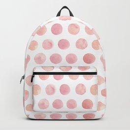 Watercolor Polka Dot Backpack
