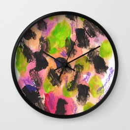 Feeling Lucky Abstract Painting Wall Clock