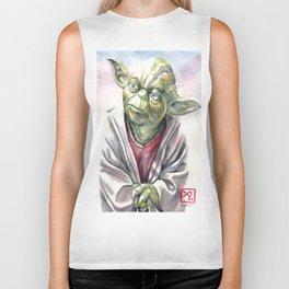 Yoda by Aaron Bir Biker Tank
