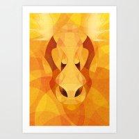 Autumn elk Art Print