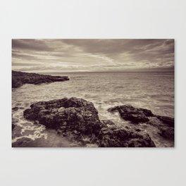 Limeslade Bay Gower Peninsula Toned Canvas Print