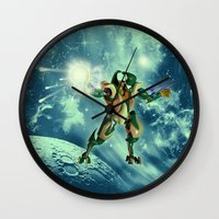 robot Wall Clocks featuring Robot  by nicky2342