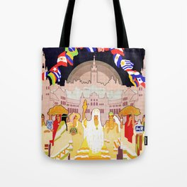 Seville Hispano American Expo 1929 art deco ad Tote Bag