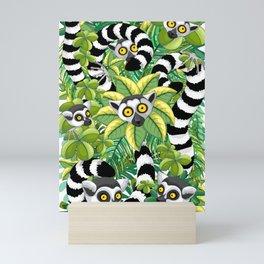 Lemurs on Madagascar Rainforest Mini Art Print