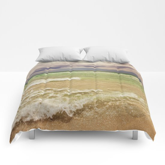 green sea Comforters