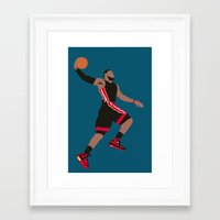 lebron Framed Art Prints featuring Lebron by rusto