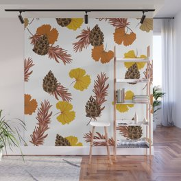 Ginkos & pines Wall Mural