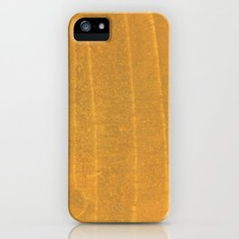 Dark yellow blurred watercolor pattern iPhone Case