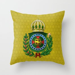 Dom Pedro II Coat of Arms Throw Pillow