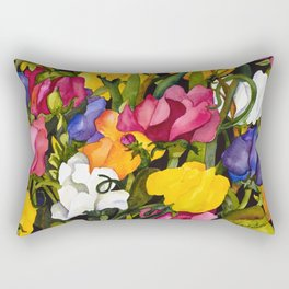 Sweet Peas Rectangular Pillow