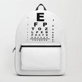 Eye Test Chart Backpack