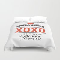 valentines Duvet Covers featuring Valentines Day by cat&wolf