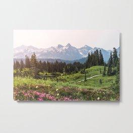 Mountain Wildflower Hiking Highs - 74/365 Metal Print