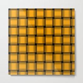 Large Orange Weave Metal Print