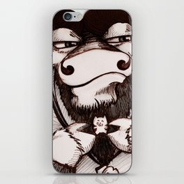 Xander: The Yak Who Collects China Kittens iPhone Skin