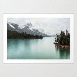 Landscape Photography Maligne Lake Art Print