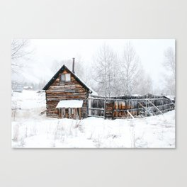 Abandoned Cabin Canvas Print