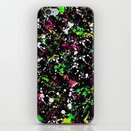 paint drop design - abstract spray paint drops 3 iPhone Skin