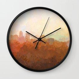 Des Moines, Iowa Skyline Wall Clock