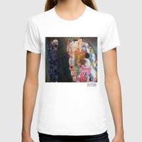 gustav klimt T-shirts featuring Death and Life by Gustav Klimt by cvrcak