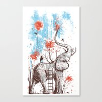 balloon Canvas Prints featuring A Happy Place by Norman Duenas