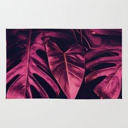 pink leaves Rug