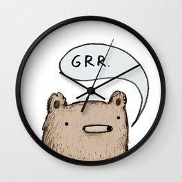 Growling Bear Wall Clock